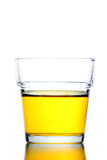 Yellow water in Glass isolated. Stock Photography