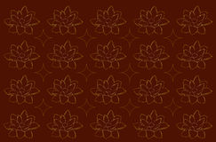 Yellow water lilies on a brown background Royalty Free Stock Images