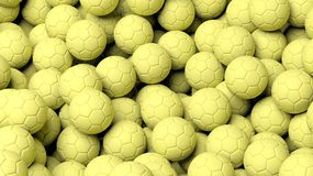 Yellow water polo balls Royalty Free Stock Photography