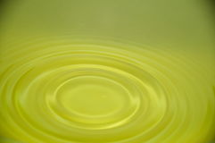Yellow water. It`s a drop of yellow water Royalty Free Stock Photos