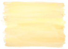 Yellow watercolor background with frayed edges. Yellow watercolor background with visible brushstrokes and frayed edges Stock Photos