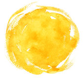 Yellow watercolor background Stock Photos