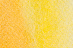 Yellow watercolor background texture Stock Image