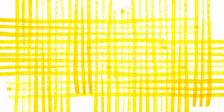 Yellow watercolor checkered pattern on white background Royalty Free Stock Photography