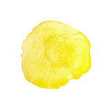 Yellow watercolor circle Stock Photography