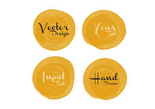 Yellow watercolor circle paint, icon design Stock Photo