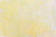 Yellow watercolor crayon on paper background texture. Yellow color watercolor crayon on paper background texture Stock Photos