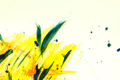 Yellow watercolor paint background. Abstract yellow watercolor paint background Royalty Free Stock Photography