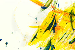 Yellow watercolor paint background. Abstract yellow watercolor paint background Stock Photography