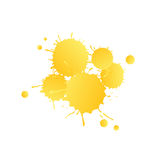 Yellow watercolor paint drops Royalty Free Stock Photo