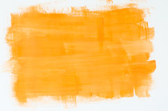 Yellow watercolor painting texture Royalty Free Stock Photo