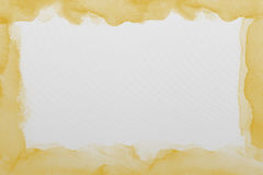 Yellow   watercolor paper texture Stock Photography