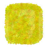 Yellow watercolor spot Stock Photography