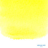 Yellow watercolor squarer background Stock Photography