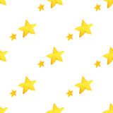Yellow watercolor stars background. illustration for greeting card, sticker, poster, banner.  Stock Photo