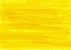 Yellow watercolor texture. Rectangular bright background. Stock Photo