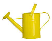 Yellow watering can isolated on a white background Stock Photo
