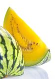 Yellow watermelon. Close-up of a yellow watermelon Stock Photos