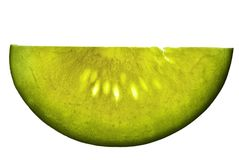 Yellow Watermelon Slice Stock Image