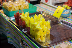 Yellow Watermelon slice in bag Royalty Free Stock Image