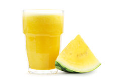 Yellow watermelon smoothie Royalty Free Stock Photography