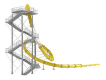 Yellow waterslide Stock Photo