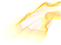 Yellow wave Stock Photography