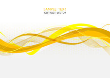 Yellow wave abstract vector background.  Stock Photo