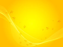 Yellow wave background Stock Photos