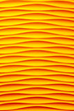 Yellow wave wall. Royalty Free Stock Image