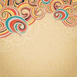 Yellow waves on cardboard top vintage Royalty Free Stock Images