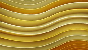 Yellow wavy curves abstract 3D rendering. Yellow wavy curves. Computer designed abstract 3D rendering Stock Illustration