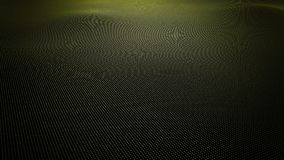 Yellow wavy surface made of balls, 3D rendering Stock Image