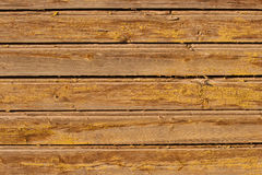 Yellow weathered wooden fence surface texture Stock Photography