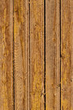 Yellow weathered wooden fence surface texture Stock Photos