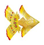 Yellow weave fish isolated. On white background Royalty Free Stock Images