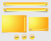 Yellow web form Stock Photo
