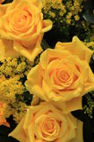 Yellow wedding flowers Royalty Free Stock Images