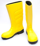 Yellow Wellington Boots Stock Photos