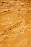 Yellow wet clay sediment Royalty Free Stock Photos