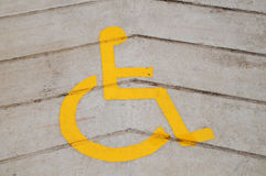 Yellow Wheel Chair Sign Stock Photography