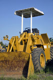 Yellow wheel Dozer. Wheel Dozers offer high production capabilities, along with mobility and versatility Stock Photos