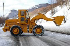 Yellow wheel excavator. Royalty Free Stock Photos
