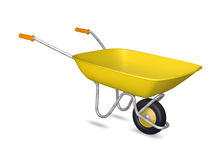 Yellow wheelbarrow Royalty Free Stock Image