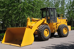 Yellow wheeled loader Royalty Free Stock Photography
