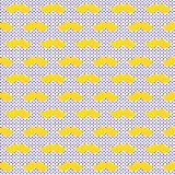 Yellow Whiskers Mustache Seamless Background. Yellow blonde fun moustache whiskers hipster background pattern with little polka dots. Seamless tile Stock Images