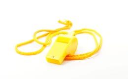 Yellow whistle Royalty Free Stock Photos