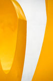 Yellow and white Royalty Free Stock Image
