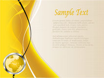 A yellow and white abstract vector business backgo Royalty Free Stock Photo