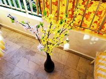 Yellow and White Artificial Flowers Royalty Free Stock Photography